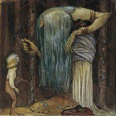 John Bauer. Ilustrador sueco, nacido en 1882, que destacó por sus ilustraciones de princesas, elfos, trolls y demás personajes de cuento y de la mitología escandinava