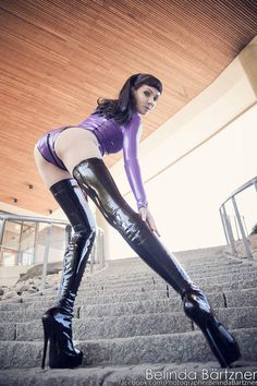 psylockemodel:  Photo: Belinda Bartzner - Photography   Model: www.Psylocke.se // Psylocke Wearing Westward Bounds purple latex body with Fabulously Fetish boots Don't forget my youtube channel, twitter, etsy and also Facebook   Feel free to share but please keep the credits!