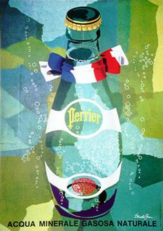 This poster came out in 1955.  Perrier  Donald Brun