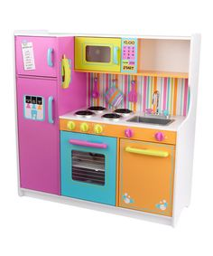 Take a look at this Deluxe Big & Bright Kitchen by KidKraft on #zulily today!