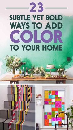 23 Stunning Ways To Add Color To Your Walls!