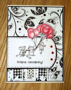 Kika's Designs : Black 'n' White Birthday Card