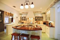 Kitchen surfaces and appliances were updated during renovations starting in 2004.