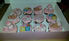Baby shower cupcakes by Shirlie W June 2015