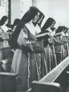 "Franciscan ""Poor Clare"" nuns (cloistered) Founded by St.Francis & St Clare of Assisi, Italy in 1212 AD  www.gothicgarments.com"