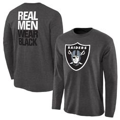 Oakland Raiders NFL Pro Line Rally Logo Long Sleeve T-Shirt - Charcoal
