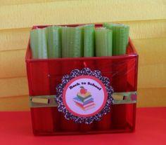 pencil holder snacks, Back to school snacks