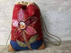 SMALL DRAWSTRING CINCHSACK Back by WhimsyEyeDesigns on Etsy