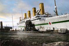 HMHS Britannic. Fine shipbuilding, huge ships, magnificent in their time. Where are they now? Where did each one finally go? And each of us, where do we all go?