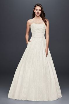Searching for discount wedding dresses? Browse David's Bridal wedding dresses for sale, including discount plus size & designer wedding dresses online now! Bridal Party Dresses, Davids Bridal Dresses, Bridal Gowns, Affordable Wedding Dresses, Best Wedding Dresses, Wedding Gowns, Wedding Venues, Wedding Attire, Lace Ball Gowns