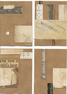 140417: four pieces of mail art for April