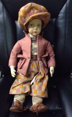 Vintage-Antique-Felt-Doll-22-Lenci-Style-Or-Lenci