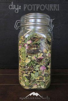 DIY Herbal Potpourri! Tips, essential oils, and organic herbs.