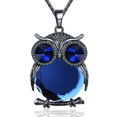 New Fashion Charms Crystal Owl Necklace Rhinestone Gem Cubic Zircon Diamond Long Chain Necklaces&Pendants Women Jewelry Owl Necklace, Long Chain Necklace, Cute Necklace, Necklace Types, Pendant Necklace, Chain Necklaces, Pendant Jewelry, Owl Jewelry, Cute Jewelry