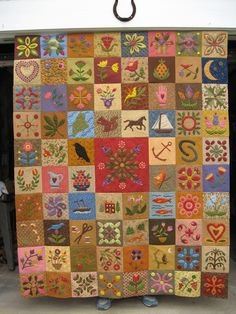 """By Wendy Caton Reed, The Constant Quilter: """"No Bake Applique"""" is the name of this quilt. Just beautiful."""