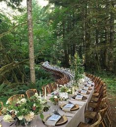 20 Woodland & Forest Wedding Reception Ideas is part of Forest wedding reception - tps header] Woodland weddings are amazing I really smell the forest aromas and hear the birds when I think of such a ceremony! Wedding Reception Ideas, Wedding Table, Wedding Receptions, Dessert Wedding, Wedding Dinner, Church Wedding, Magical Wedding, Woodland Wedding, Rustic Wedding