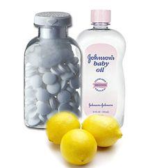 Selülit gidermek için aspirin-limon suyu-bebe yağı