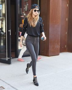 Gigi Hadid sets it straight; skinny jeans aren't going anywhere anytime soon.