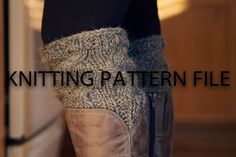 PDF File KNITTING PATTERN to knit your own boot by AddiesmaDesigns