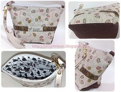 Tut-covered ends zipper make-up bag ~ by creativityinme