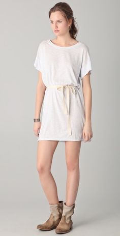 t-shirt dress would be cute with cowgirl heeled boots