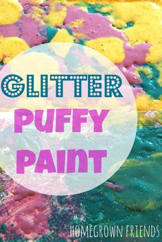 Have you ever made homemade puffy paint?  This is SO easy and no microwave needed!