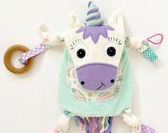 Unicorn Mini Baby Blanket Lovey Memory Keepsake Toy Friend