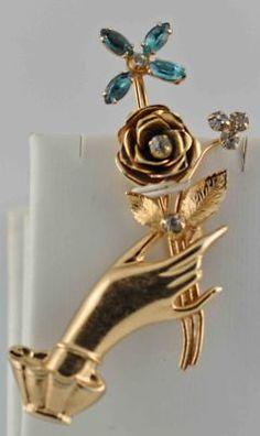 Coro hand brooch