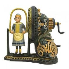 Authentic Foundry Iron Mechanical Coin Bank