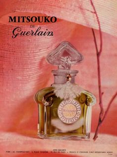 Guerlain ad 1960 Mitsouko.  Big and beautiful luxury perfume.   My signature! :D <3