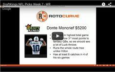 DraftKings NFL Picks Week 7 – WR Options