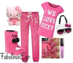 We Love Sexy Kitty [ Pajama Party ] by fabulousego, via Polyvore