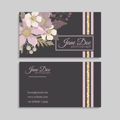 Luxury Business Cards, Modern Business Cards, Invitation Background, Background Banner, Floral Doodle, Hand Drawn Flowers, Vector Flowers, Flower Doodles, Wedding Invitation Cards