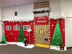Santas workshop Christmas door decorations