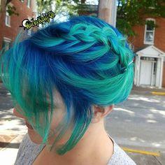 Green and blue braid.
