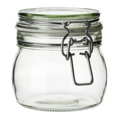 KORKEN Jar with lid IKEA The jar has an airtight seal, which makes it perfect for preserving your favorite homemade jams and jellies.