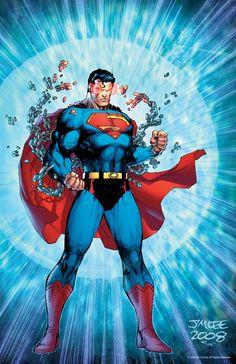 #Superman #Fan #Art. (Superman Pin Up) By: Jim Lee. (THE * 5 * STÅR * ÅWARD * OF: * AW YEAH, IT'S MAJOR ÅWESOMENESS!!!™)[THANK U 4 PINNING!!!<·><]<©>ÅÅÅ+(OB4E)