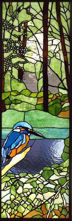 Tashiro Stained Glass Kingfisher