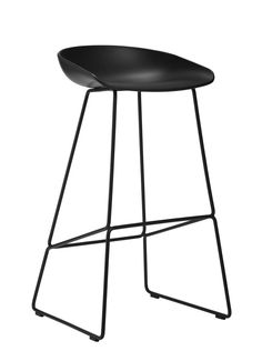 CLIPPINGS: About A Stool AAS38 White Seat and Black Base, High by HAY
