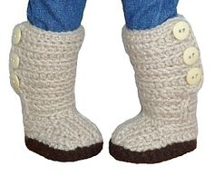 Download Mini Sweater Boots - PDF Crochet Pattern to fit American Girl Dolls Sewing Pattern   What's New   YouCanMakeThis.com