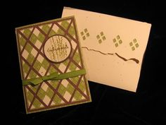 Argyle card, wildcard cricut cartridge