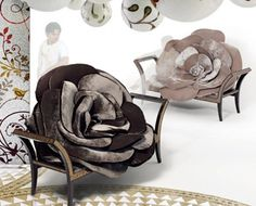 The designer Carla Tolomeo presents you some interesting, elegant rose chairs. Their impressive size and the velvet used as a material make you think of elegant and luxurious interior designs. Their big shape and dark color underline sobriety and refinement.If you choose these types of chairs for your elegant living room they will be the eye catching items for all your guests who will definitely appreciate your refined style.