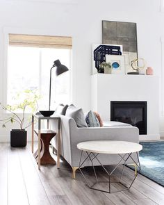 Loving how @afpdesign creatively styled our Origami Coffee Table as a side table  Show us your style with #mywestelm ✨