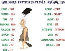 participe passé / voir aussi. : http://www.euro-cordiale.lu/graphoville/sketches/12Pigeo.pdf http://www.euro-cordiale.lu/graphoville/sketches/21Comte.pdf