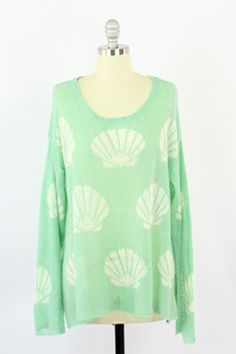 Wildfox Couture Shell Baby Roadie Sweater. Sale: $198.00 Save 10%