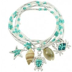 Sea Life Beaded Bracelet Reference: 7967LC Condition: New product