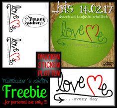 """LOVE-me ...every day""   Nur bis 14.02.17 als Freebie erhältlich !          *D*O*W*N*L*O*A*D*            #peacemakerquilt    ..."