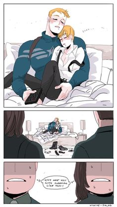 HAPPY NEW YEAR! About a month ago I fell into the wonderful hell that is Stucky and you have all been so welcoming and awesome. Have a Steve cuddle pile on the house. Can't wait to see what 2016 brings to Stucky hell! xoxo Nicoise