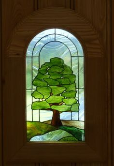 Stained glass tree panel                                                       …