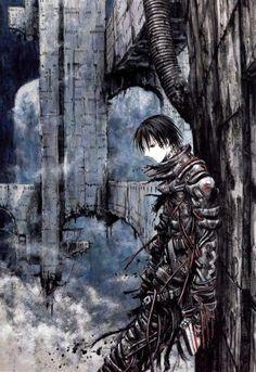 Killy from Blame! Sci Fi Anime, Manga Anime, Blame Manga, Sketch Manga, Arte Sci Fi, Shadow Of The Colossus, Robot Concept Art, Cyberpunk Art, Manga Artist